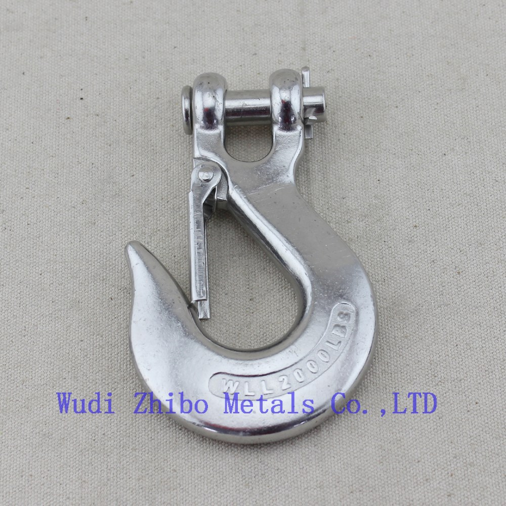 Lifting Slip Hook with Safety Latch Clevis Stainless Steel