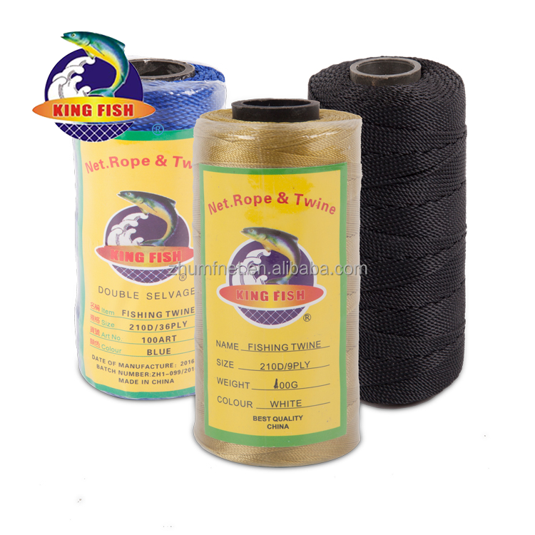 High resistance polyester pe line for agriculture nylon thick pe fishing twine 210d in 2017 market