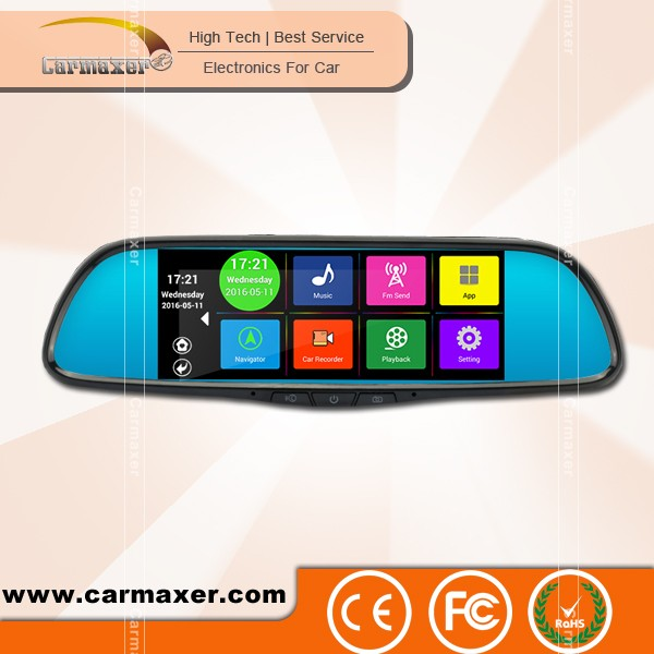 Android wifi navigation dual camera 4G 3G car universal side mirror