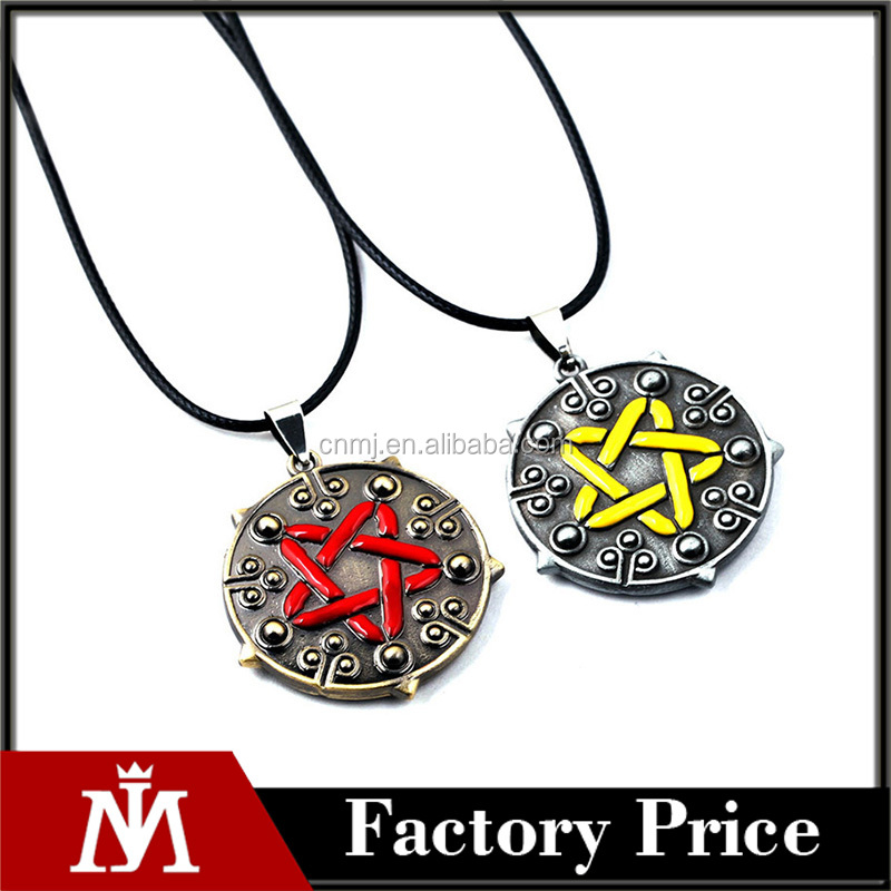 The Witcher 3 Yennefer Medallion 35cm+5cm Leather Choker Necklace the Wild Hunt Game Cosplay Jewelry Gothic Gold/Silver Pendant