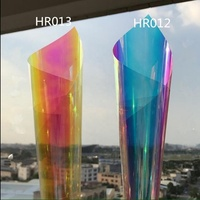 colorful effect glass wall decorate dichroic film building glass tint films photochromic window film
