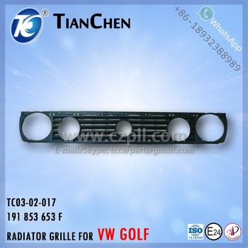 RADIATOR GRILLE for GOLF 2 / FRONT GRILL FOR GOLF 1984 - 1991 191 853 653 F - 191853653F - 191853653