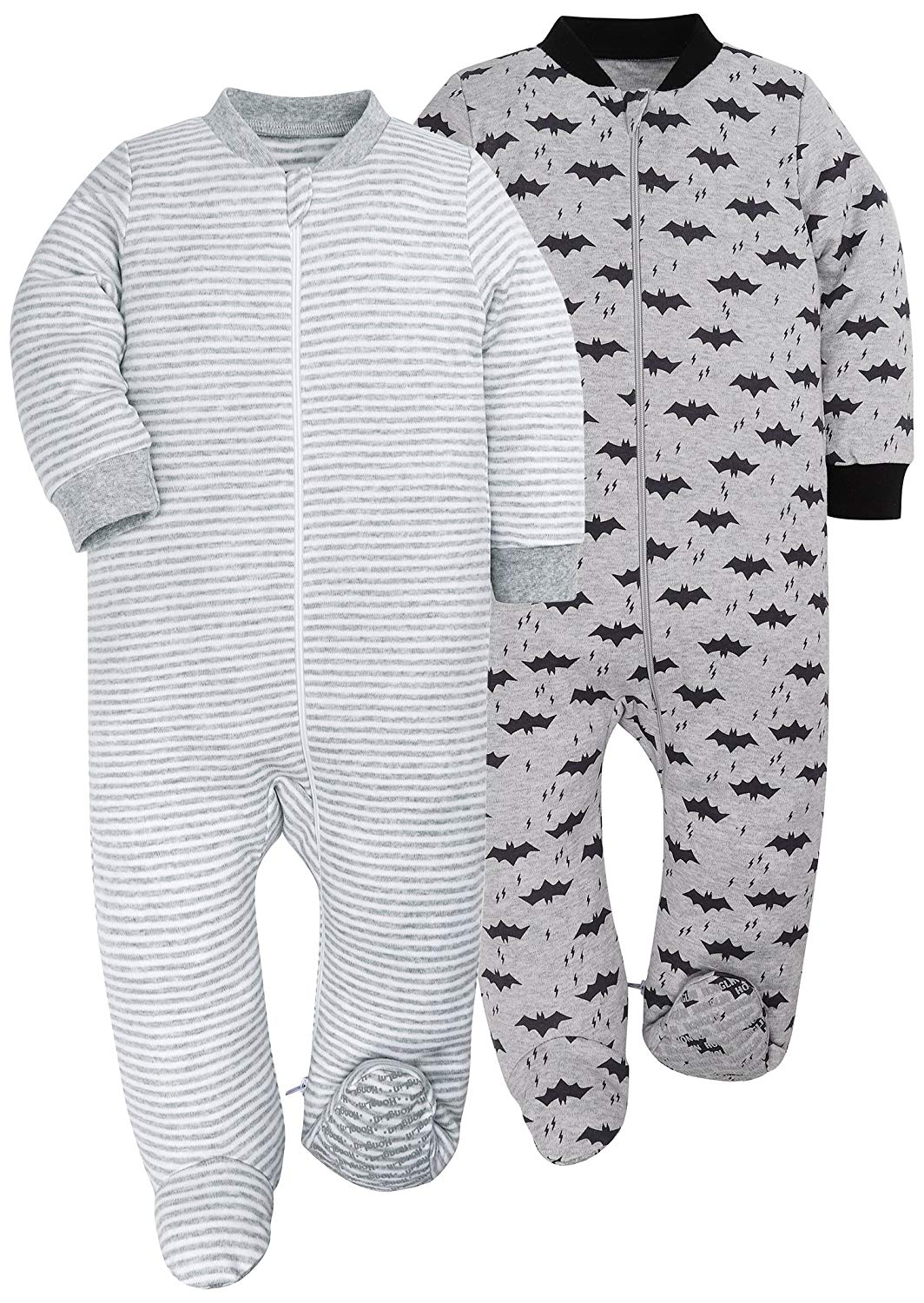 Get Quotations · HONGLIN Baby Girls 2-Pack Footed Baby Pajamas Sleepers  Rompers 100% Cotton with Non 9962907c0