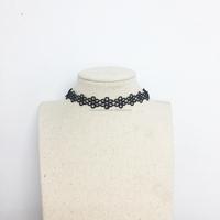 Women's Fabric Lace Daisy Flower Choker Necklace