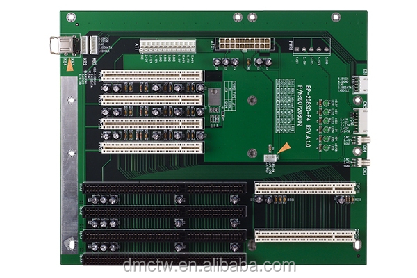 Wallmount, PICMG 1.0, 8-Slot Backplane, 4 PCI, 3 ISA, Single Segment