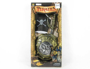 pirate weapon toy sword shield pirate hat halloween cosplay party toy for kids