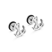 Marlary High Qulity Cheap Jewellery Beautiful Stainless Steel Fashion Design Earrings For Men And Women Anchor Stud Earrings