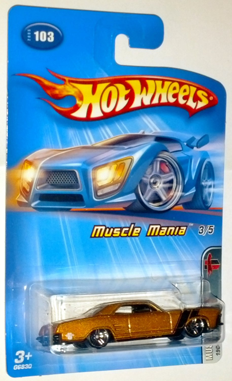 Hot Wheels 2005 Muscle Mania 3/5 1964 Buick Rivera #103 1:64 Scale Die-Cast Vehicle