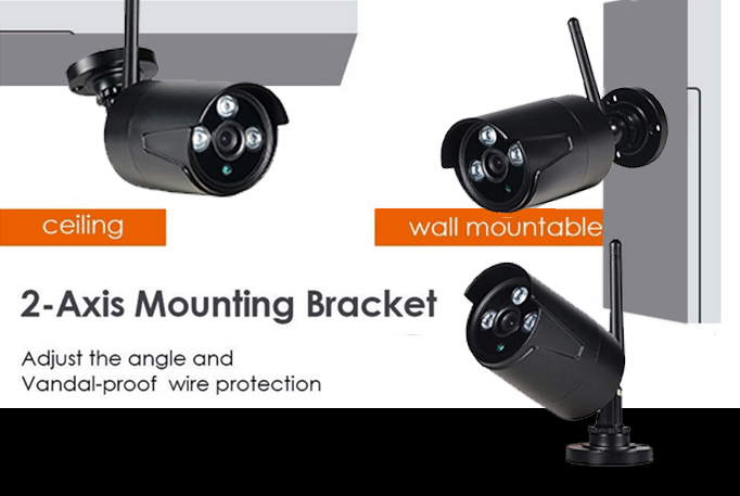Shenzhen onvif wireless NVR Kit p2p bullet Security camera system wireless 4CH NVR Kit RF-XKW-2304N-LW-K