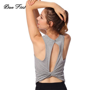 Summer New Sports Vest Fitness Top Beauty Back Training Yoga Clothes Vest Women