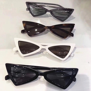 GUVIVI Cheap designer sunglasses cool trendy women White sunglasses small triangle mirror Glasses sunglasses