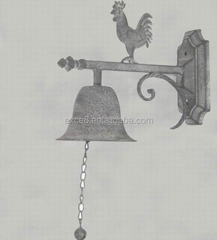 Decorated Rooster Cast Iron Home Wall Decor Hanging Bell Buy Home