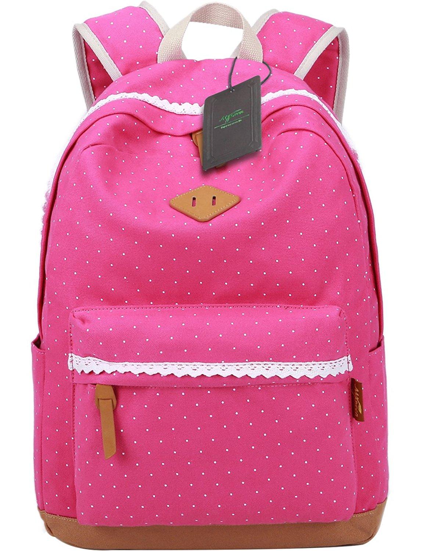 Buy Mygreen Polka Dot Canvas School Backpack Bag b642630f2aeb7