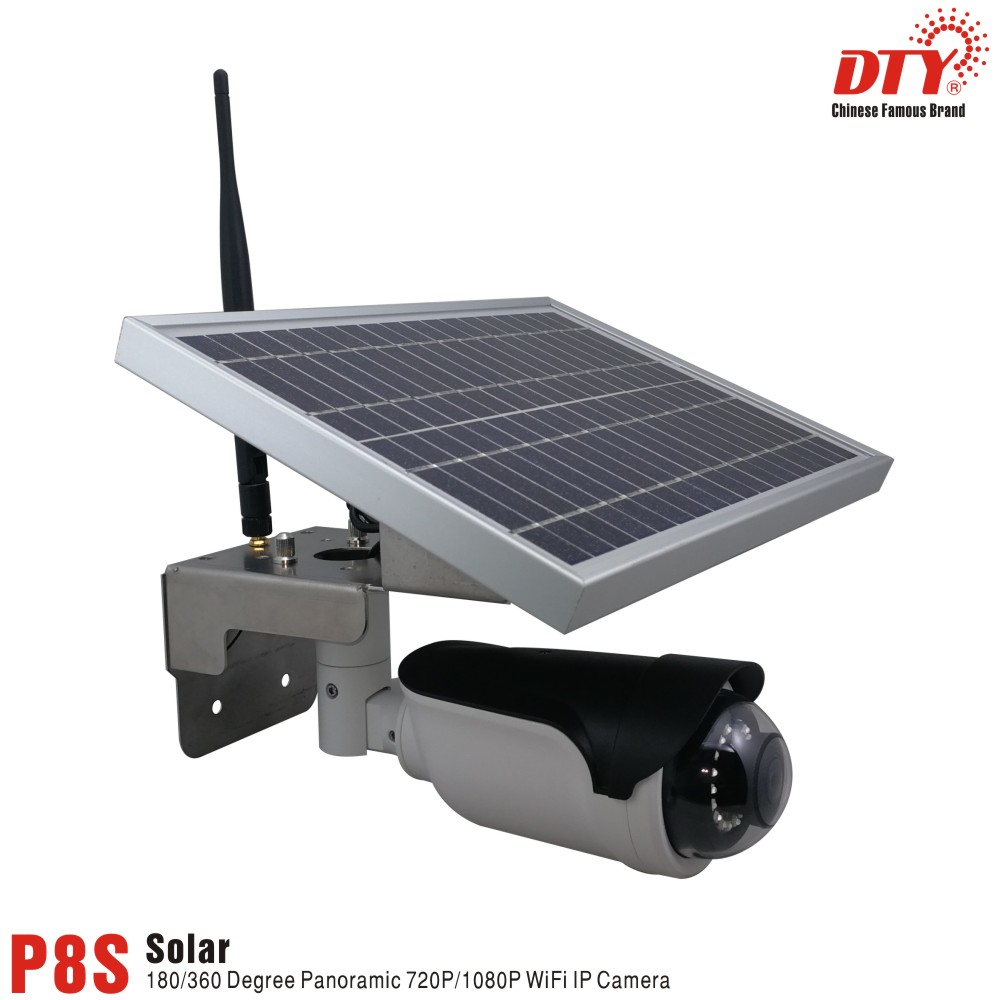 DTY 1080P Panoramic battery powered rechargeable WIFI 6w solar ip <strong>camera</strong> CCTV <strong>camera</strong> cheap