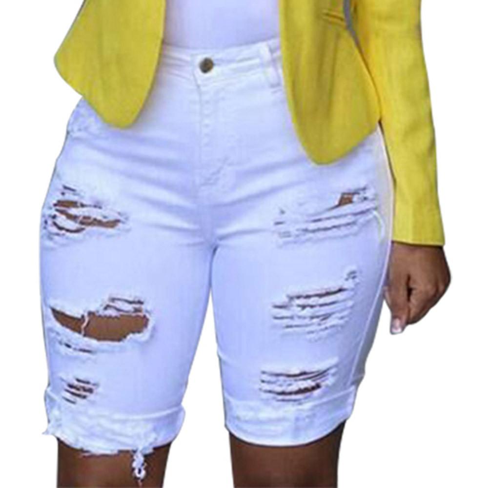 9cd32fbd Detail Feedback Questions about Womens solid Denim Skinny Short ...