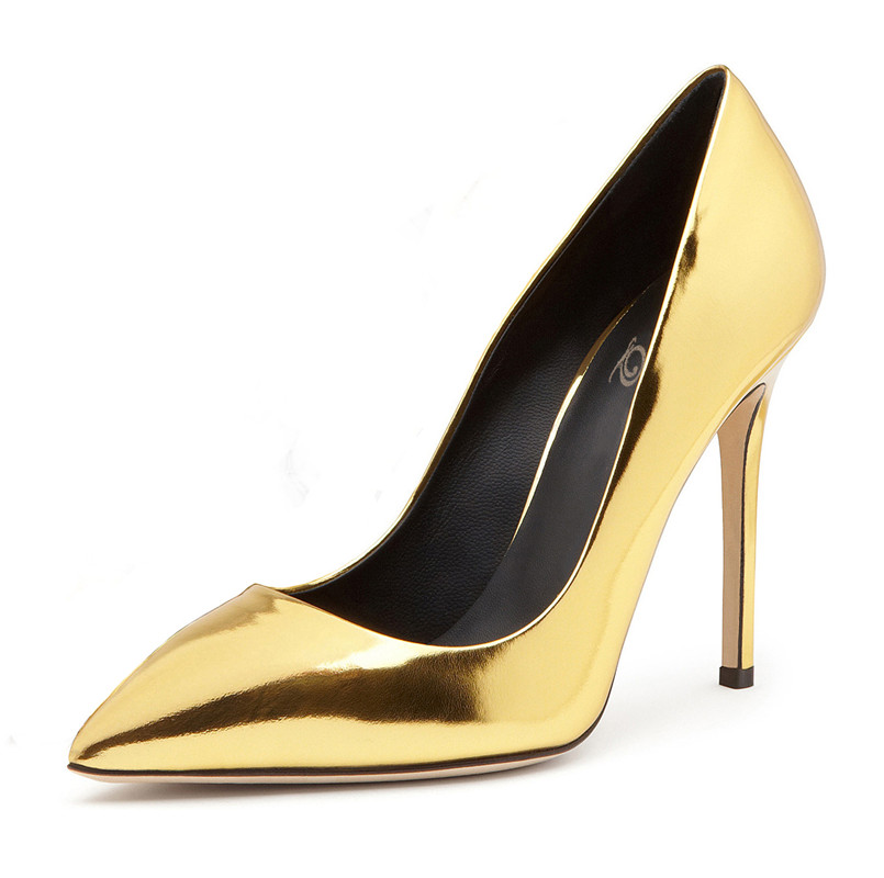 2017women fancy gold sexy pointed toe luxury pumps for wedding
