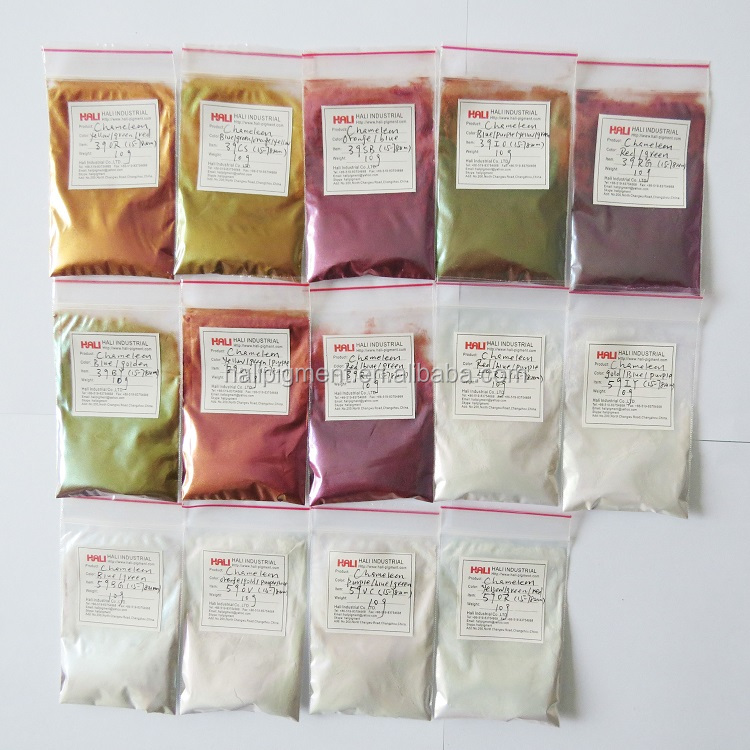 color travel pigment color shifting pigment item:39OR,olivine/red effect