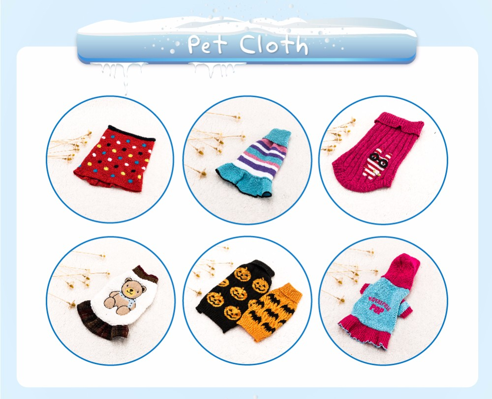 New Design Multi-color pet small clothes cheap dog coat