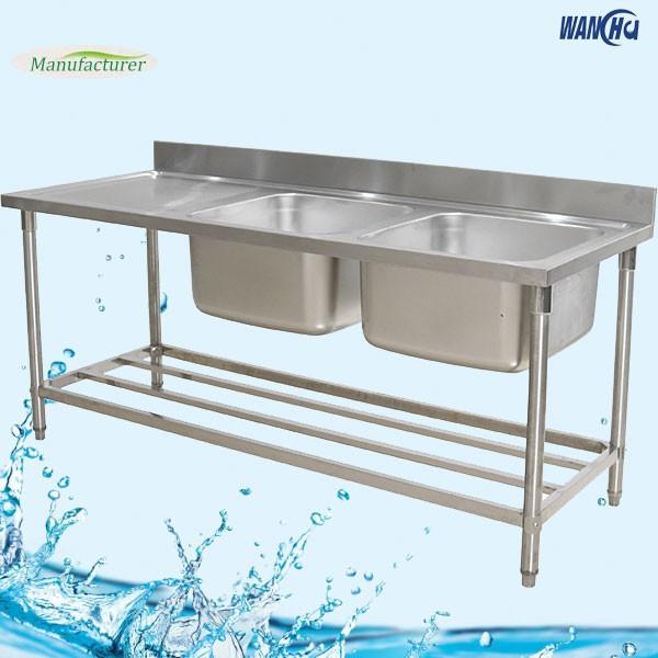 Sri Lanka Double Bowl Stainless Steel Kitchen Sink Work Table Supplier Metal Industrial Kitchen Sink Project Buy Sri Lanka Double Bowl Stainless