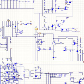 Cad Software Editing Electronics Schematic Diagram Pcb Design Layout ...