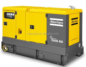 Atlas Copco QAS 60 Diesel Generator 464kW 58kVA AC 400V3 Phase 4