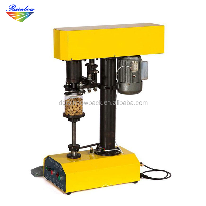 Cheap price semi automatic food can seaming machine