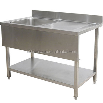 Commercial Free Standing Stainless Steel Fish Cleaning Table With Sink Single Bowl Kitchen Outdoor Stainless Steel Sink Stand Buy Outdoor Stainless