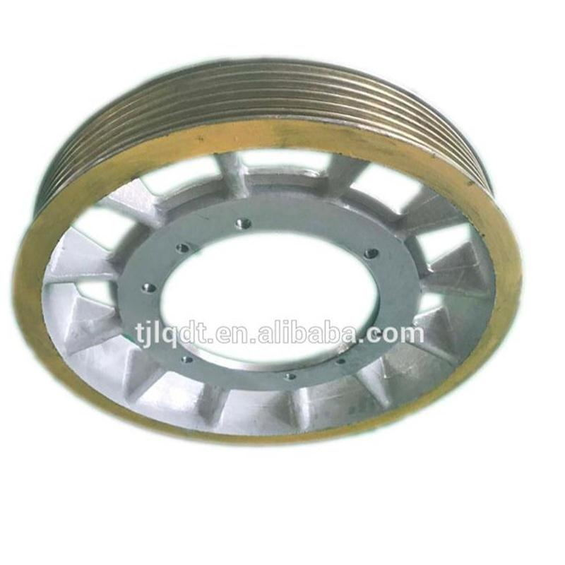 Convenient and swift mitsubishi elevator traction wheel,lift spare parts,620*6*12