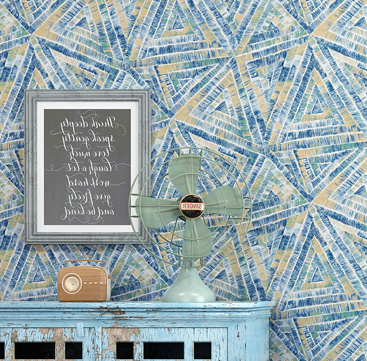 3D Colorful Nordic Style Retro Geometric Papel De Parede Wallpaper For <strong>Wall</strong>