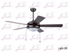 East Fan 48inch Five Blade Indoor Ceiling Fan with light item EF48105 modern ceiling fans
