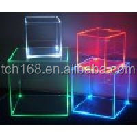 Clear Acrylic Cube Display Case,acrylic display cube with led light