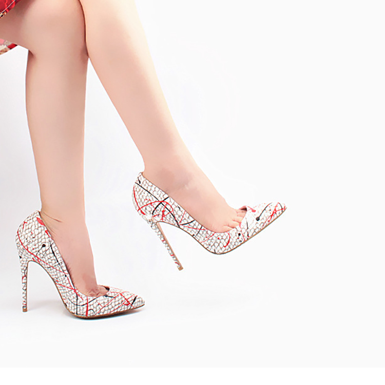 cheap women shoe lady girls high printing photo heel sexy fancy elegant rubber 2018 india qwI11T