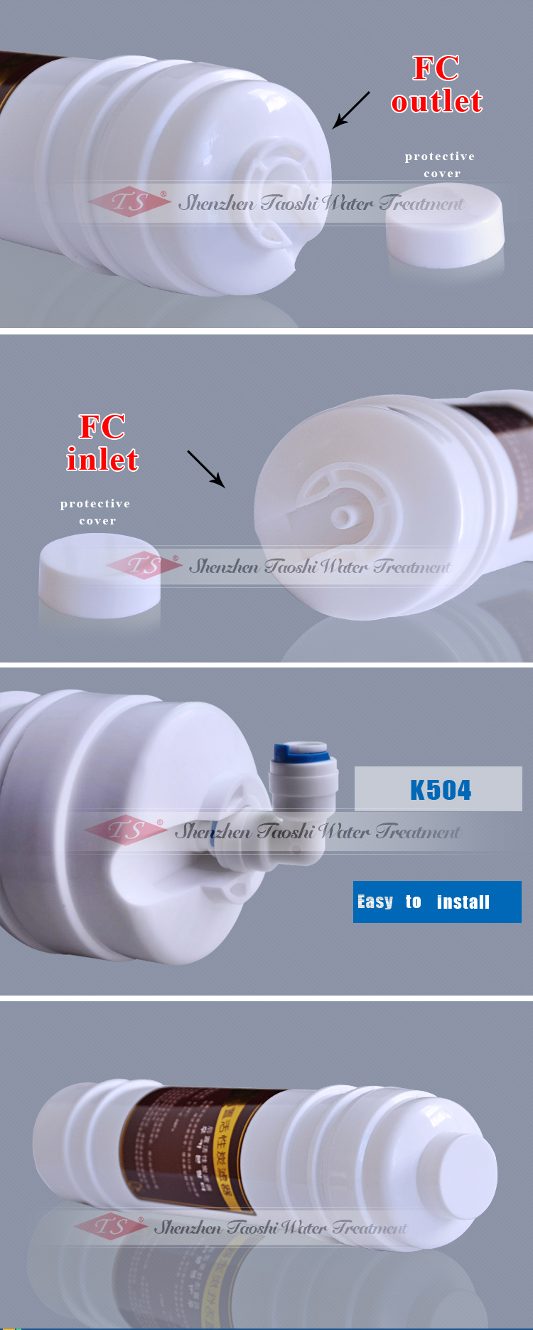 Big Flow Post Carbon Inline Filter Cartridge for Water Filter
