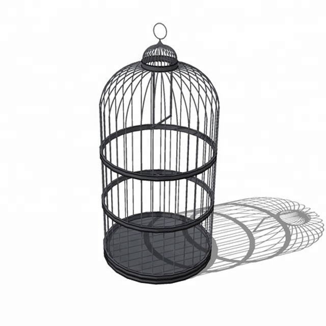Cheap Chinese metal bird cage with antique feature