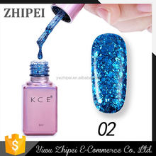 Best selling different types glitter color gel nail polish for wholesale