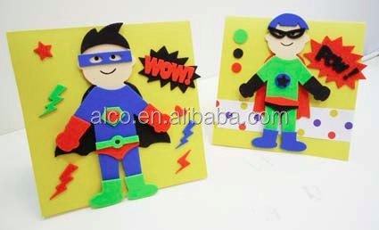 Super hero EVA kids foam card making craft kit