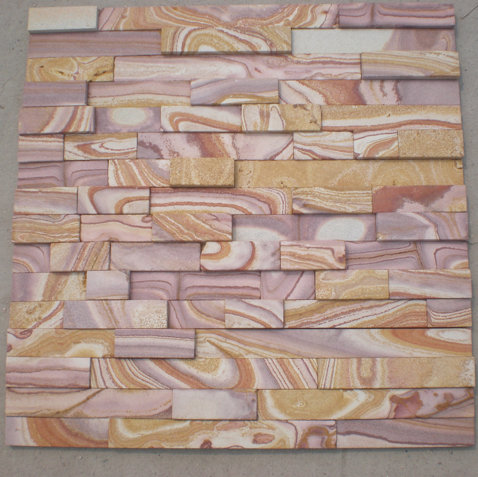 Cladding Wall Slates Panel Culture Sandstone Split Yellow Cultural Stone