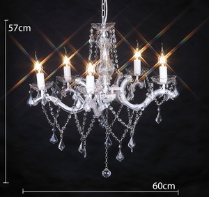 interior decoration modern led crystal chandelier /pendant chandelier /white UL chandelier from china factory