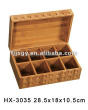Custom popular eco-friendly bamboo lunch /tea box with lid