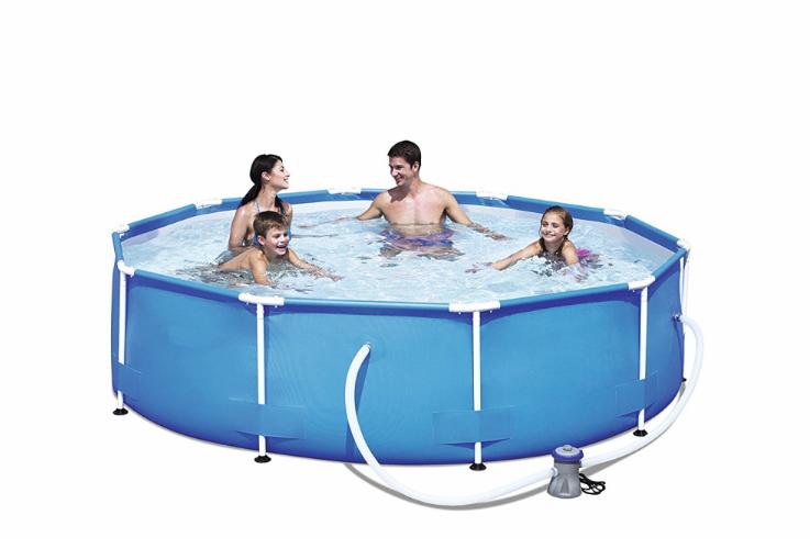 Bestway 56260 family round water pool steel metal frame swimming pool