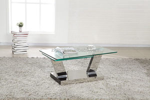 Special processing glass sheet, Table glass for living room with hot bendding & stainless steel