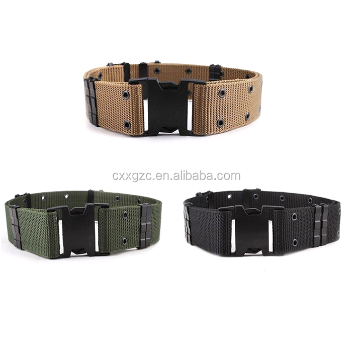 Adjustable Plastic Buckle PP Police Belt Army Military Uniform Tactical Belt