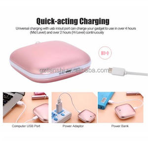 Mini USB charging mobile power double sided fever hand warmer power bank