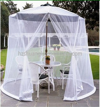 Outdoor circular portable folded umbrella mosquito net