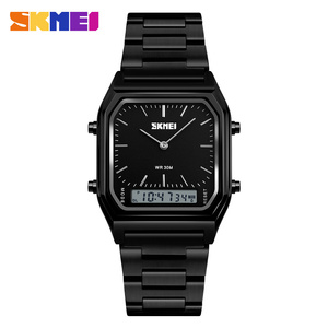 2018 New Product SKMEI 1220 Men Gold Stainless Steel Back Quartz Watch Imported from China
