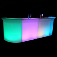 luminous cocktail table , glow mobile cocktail bar counter, led portable cocktail bar
