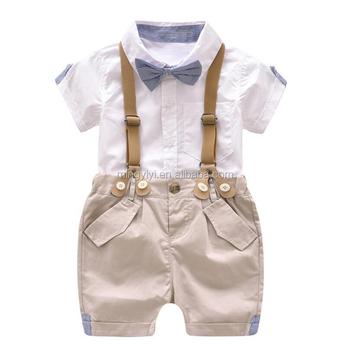 Anak Laki Laki Set Musim Panas Bayi Setelan Celana Pendek Kemeja