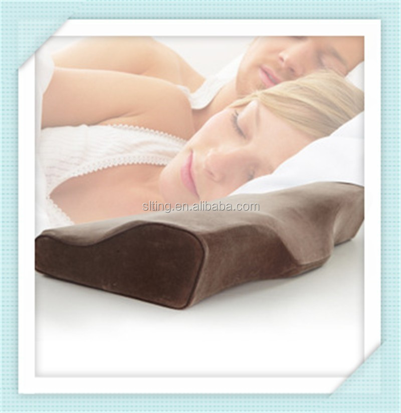 SLEEP LIKE A BABY Hypoallergenic and Dust Mite Resistant Brown Velvet Memory Foam Pillow