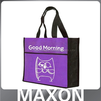 Best price colorful printing shopping grocery non woven bag Guangdong factory