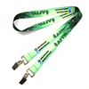 Custom famous brand dye sublimated two ended clips yoga lanyard